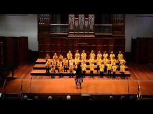 Young Adelaide Voices sing 'Great Australian Bight'